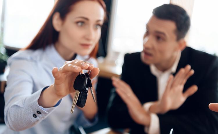 Разделить машину при разводе